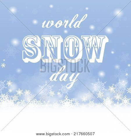 Snow day. Christmas greeting card. Stock vector. Winter banner for your design.