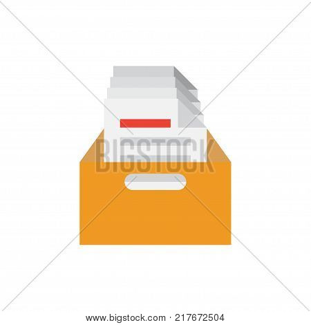 files archive box icon. isolated on the white background. vector illustration