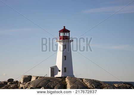 Rocky Shores At Peggys Cove Lighthouse, Nova Scotia, Canada