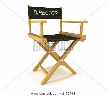 Flim Industry: Directors Chair On White