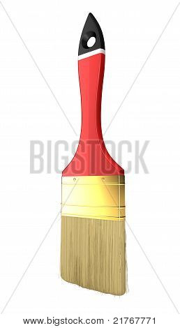 Renovation: Red Paintbrush Isolated