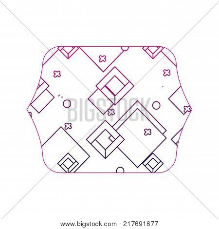 color edge quadrate with geometric style graphic background vector illustration