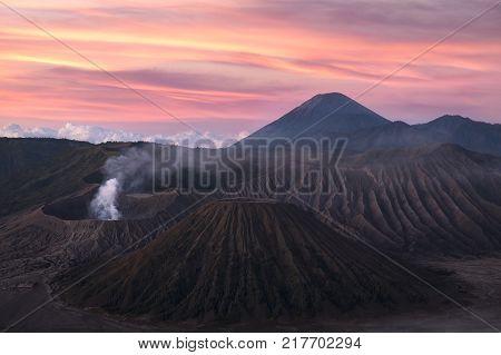 Cemoro Lawang Village View In Morning, Bromo Tengger Semeru National Park, East Java, Indonesia.