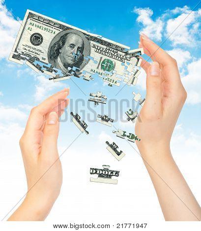 Crisis Dollars Concept