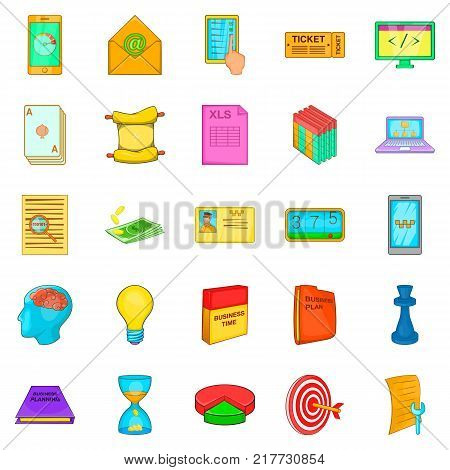Circuit icons set. Cartoon set of 25 circuit vector icons for web isolated on white background