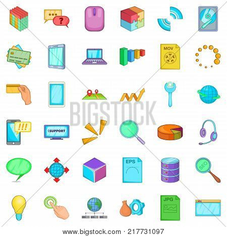 Organization of business icons set. Cartoon style of 36 organization of business vector icons for web isolated on white background