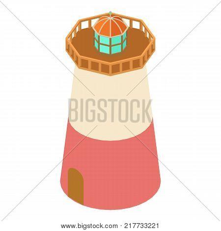 Lighthouse signal icon. Isometric illustration of lighthouse signal vector icon for web