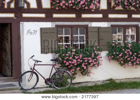 Farmhouse And Bike