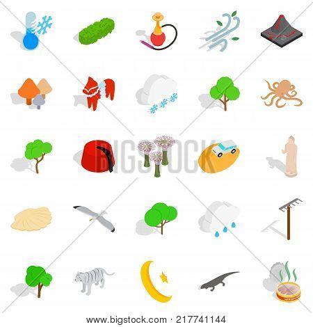 Animality icons set. Isometric set of 25 animality vector icons for web isolated on white background