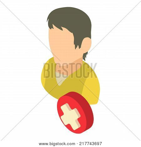 Cancellation icon. Isometric illustration of cancellation vector icon for web