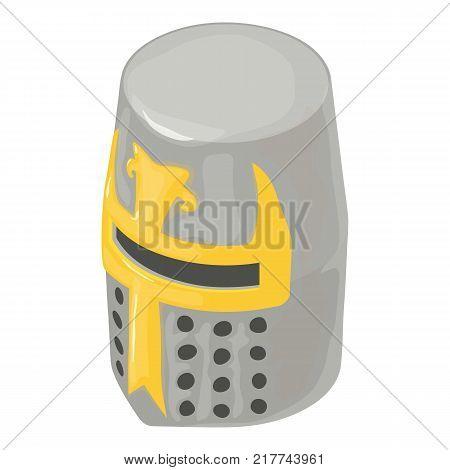 Helmet knight soldier icon. Isometric illustration of helmet knight soldier vector icon for web
