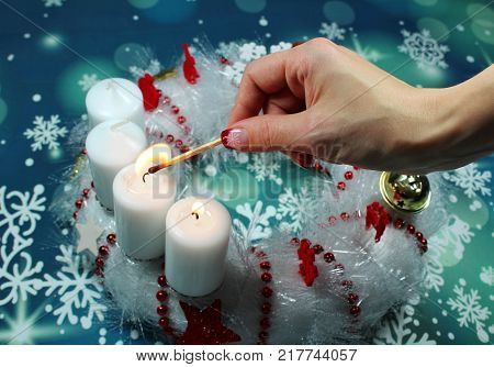 Second Advent Sunday/ candles on an advent wreath