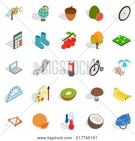 Parenting icons set. Isometric set of 25 parenting vector icons for web isolated on white background