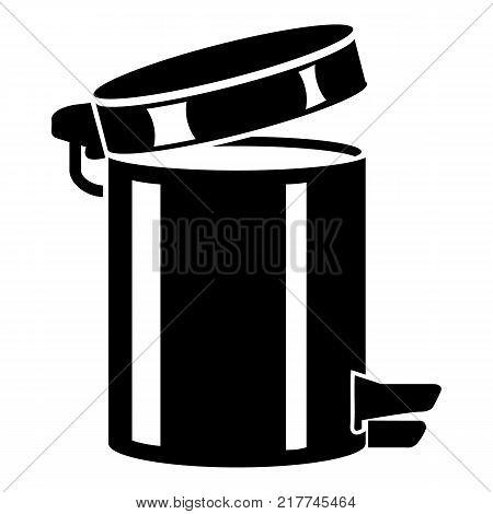 Trash bin icon. Simple illustration of trash bin vector icon for web