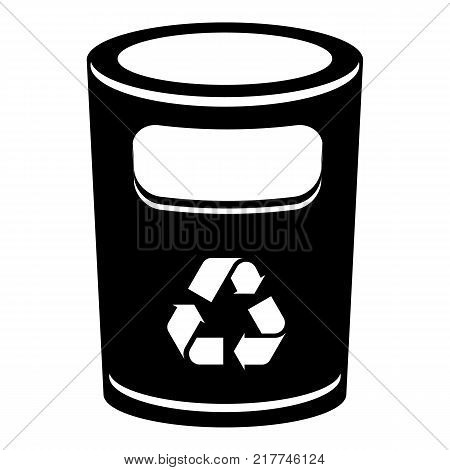 Recycling bucket icon. Simple illustration of recycling bucket vector icon for web