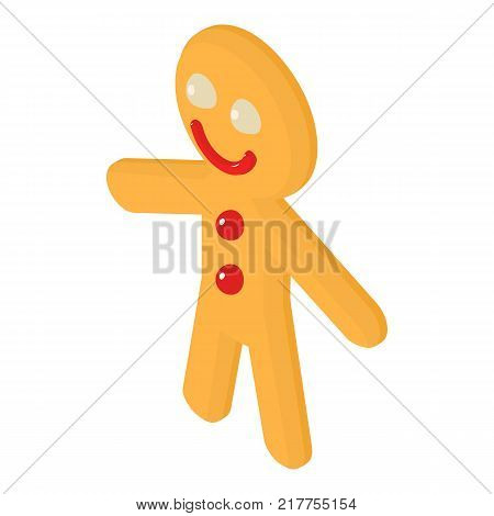Gingerbread man icon. Isometric illustration of gingerbread man vector icon for web