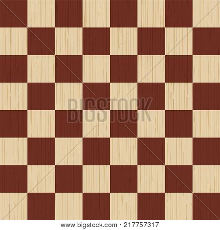 Wooden background. Chess board. Wood texture, pine board Vector illustration