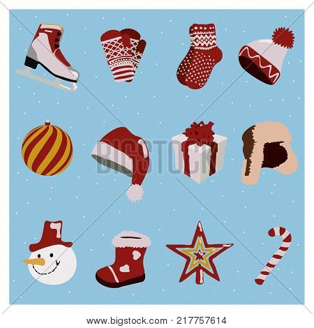 Winter, New Year and Cristmas icons for your projects.