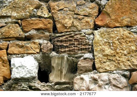 Background Picture Of Stones In Old Cottage Wall