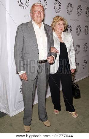 LOS ANGELES - MAY 13: Dick Van Patten and wife at the Paley Center for Media world premiere screening of 'Farrah's Story' in Beverly Hills, California on May 13, 2009