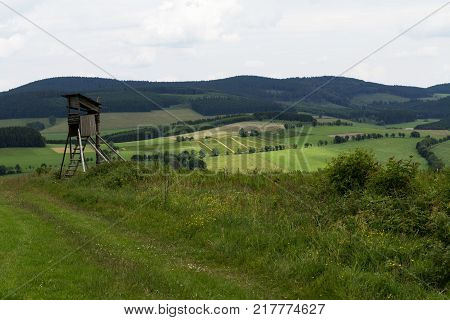 A view over some fields in Sauerland Germany.