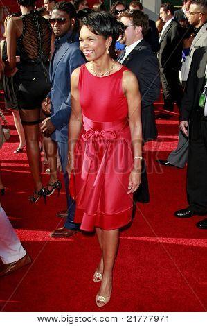LOS ANGELES - JUL 15: Condoleezza Rice at the 2009 ESPY Awards held at the Nokia Theater in Los Angeles, California on July 15, 2009