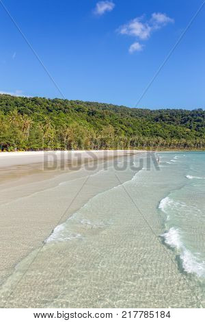 Beautiful tropical beach on Koh Kood island in Thailand
