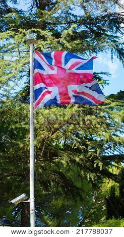 National Flag Of The United Kingdom Is The Union Jack, Also Known As The Union Flag