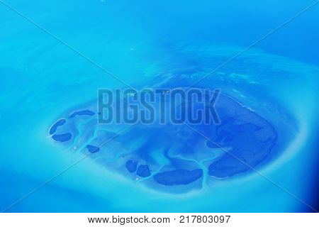 Tropical island above view