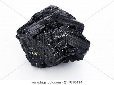 Lead Carbonate Mineral Isolated Over White
