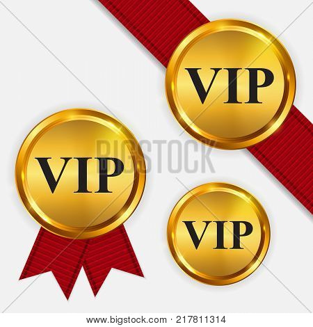 Vector VIP Members Only Gold Sign, Label Template EPS10