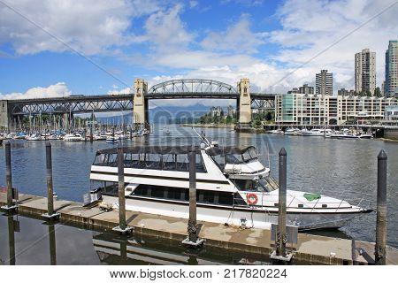 Burrard Street Bridge from Granville Island,Vancouver, Canada