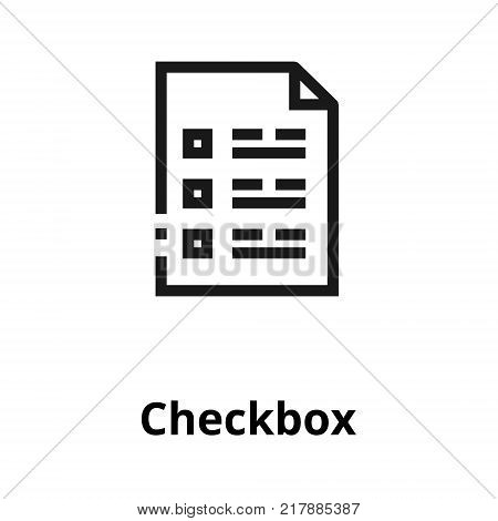 Checkbox thin line icon. Icon for user interface and web