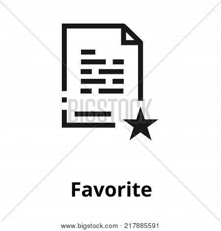 Favorite document thin line icon. Icon for user interface and web