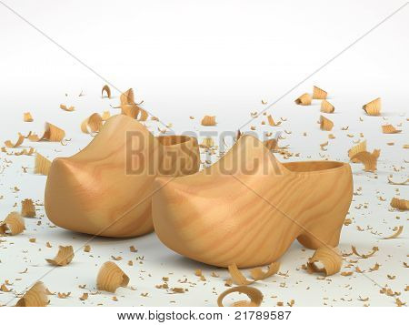 Wooden shoes and sawdust