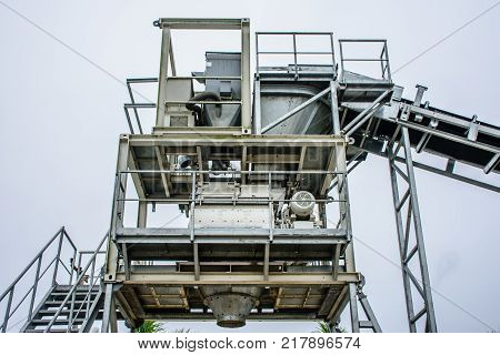 batching plant is a machine to create concret from sand, stone, cement and water