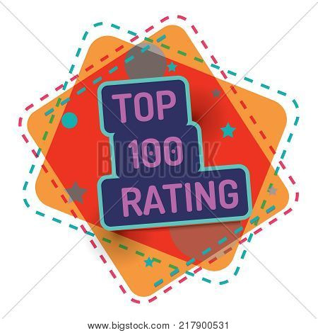 Top 100 rating. Vector color banner quality. Background