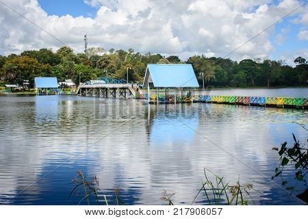 landscape photo of Naung Yar Lake, Loikaw, Kayah State, Myanmar, Oct-2017