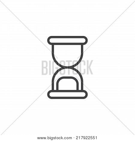 Hourglass line icon, outline vector sign, linear style pictogram isolated on white. Sandglass symbol, logo illustration. Editable stroke