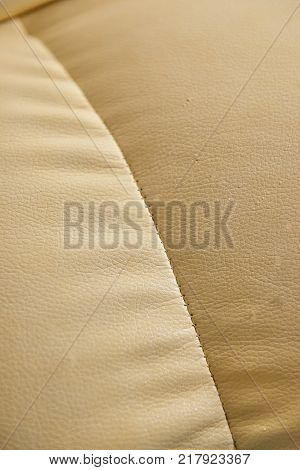 Light Beige Patterned Faux Leather Background Texture