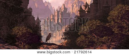 Castle And The Heron