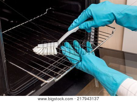 Cleaning Induction Plate In Kitchen