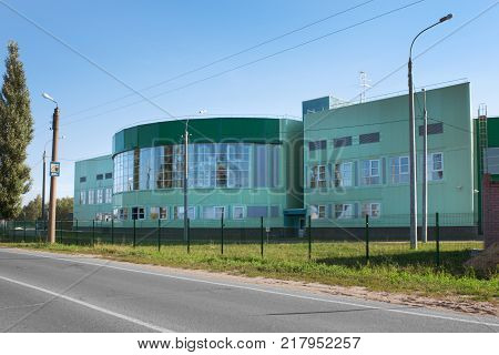 Volodarsk Russia - August 04 2012: There are in Volodarsk sports complex good for a provincial town