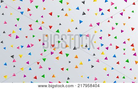 Vector abstract triangles background. Modern technology illustration. Digital geometric abstraction with pyramids. Vector Illustration.