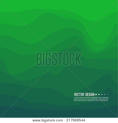Distorted wave colorful texture. Abstract dynamical rippled surface. Vector stripe deformation background. Transition and gradation of color.