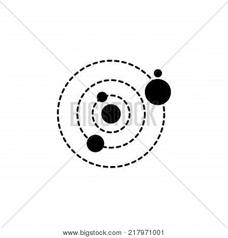 solar system icon. Elements of space Icon. Premium quality graphic design. Signs symbols collection simple icon for websites web design mobile app on white background
