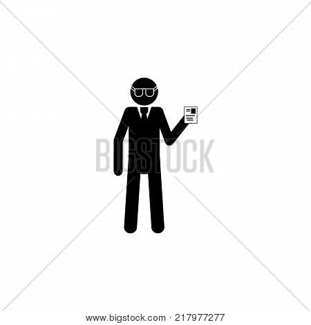 silhouette detective icon. Special services element icon. Premium quality graphic design icon. Professions signs isolated symbols collection icon for websites web design mobile on white background