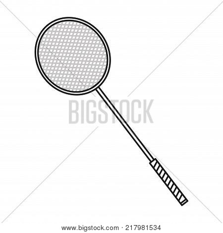 Badminton of sport competition and game theme Isolated design Vector illustration