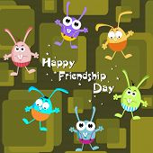 kiddish concept background for friendship day poster