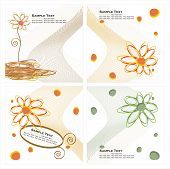 Vector collection of layouts. Vector colored designs and backgrounds  with floral motives poster